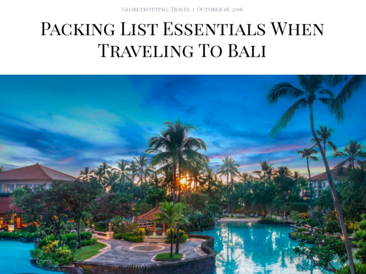 Resort Packing List for BELLA LA Magazine