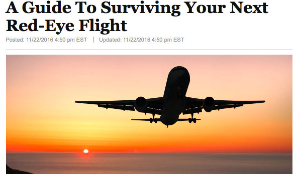 Red Eye Survival Guide for Huff Post Canada