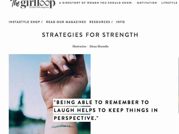 Strategies for Strength for Style Verify's The Girl Loop