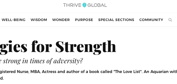 My first byline for Thrive Global