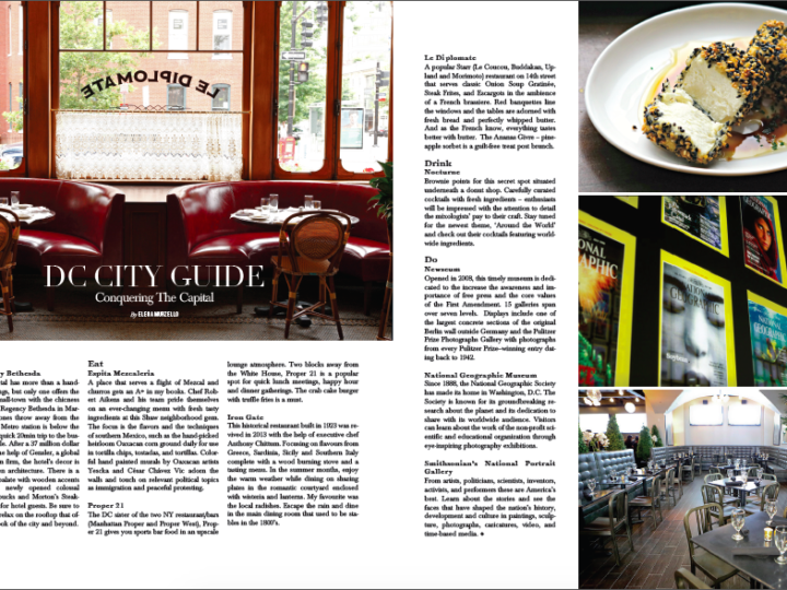 DC City Guide on RESIDENT Magazine