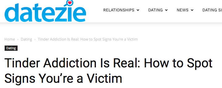 Tinder Addiction is Real: How you Spot Signs You're a Victim