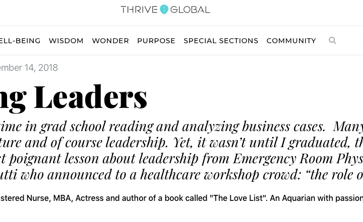 Leading Leaders for Thrive Global